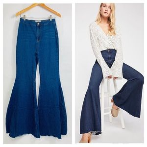 Free People High Waist Just Float On Flare Jean